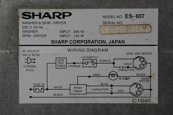 cara menyambung kapasitor ke power listrik ke dinamo mesin cuci